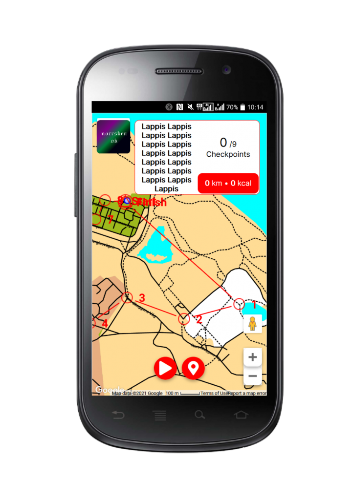 You can practise orienteering with apps like Metrunner.